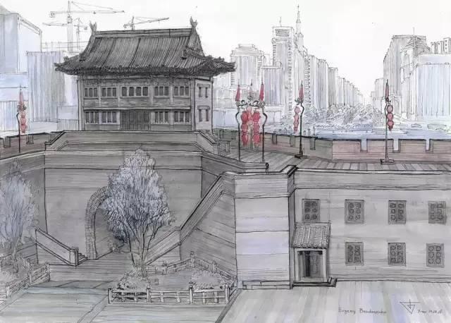 建筑手绘,国外设计师画的就是好看!_21