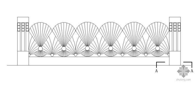 铁艺围墙栏杆施工大样图