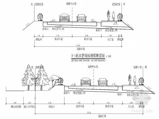 防火通道工程排水工程施工图