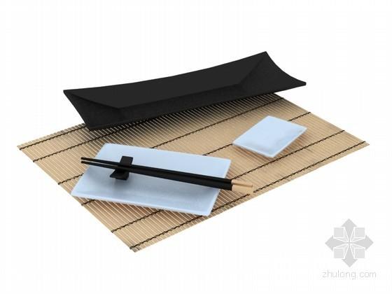 中式餐具3D模型下载