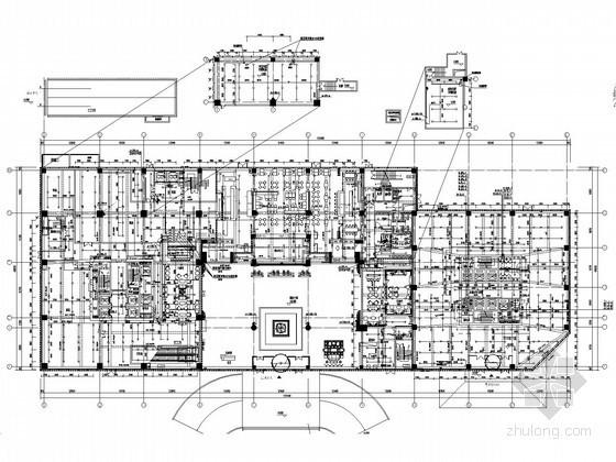 [河北]商业综合楼给排水消防施工图(喷淋系统)