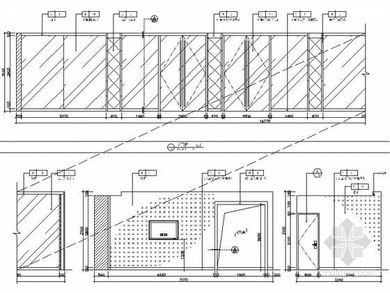 [瑞金]新亚洲别墅群高档售楼处室内装修施工图(含效果)展厅立面图