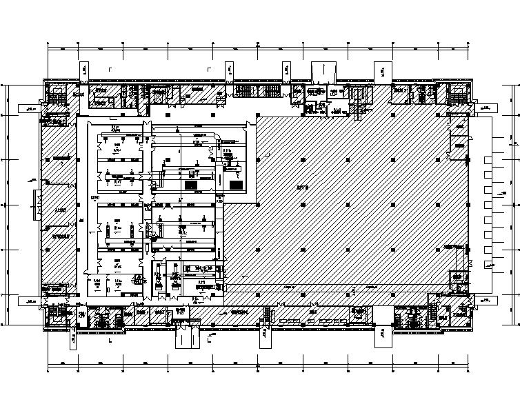 广东华为南方工厂暖通设计施工图(净化空调)