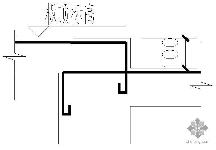 某楼板高差处钢筋大样节点构造详图