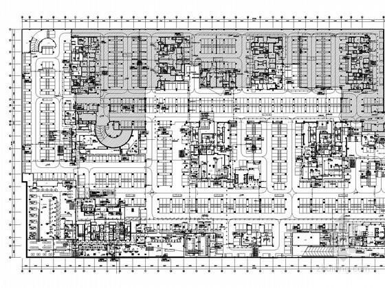 [辽宁]地标型城市综合体广场全套电气施工图280张(超高层建筑群 51万平 知名院)