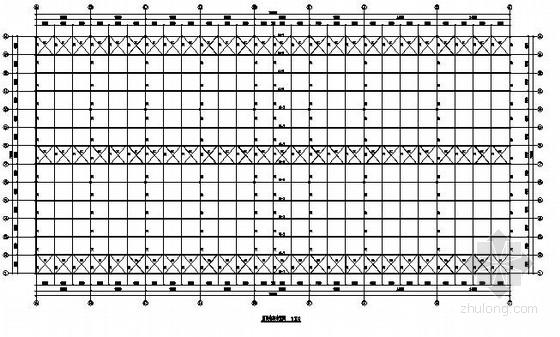 单层多跨钢结构厂房结构施工图(建筑 吊车梁)