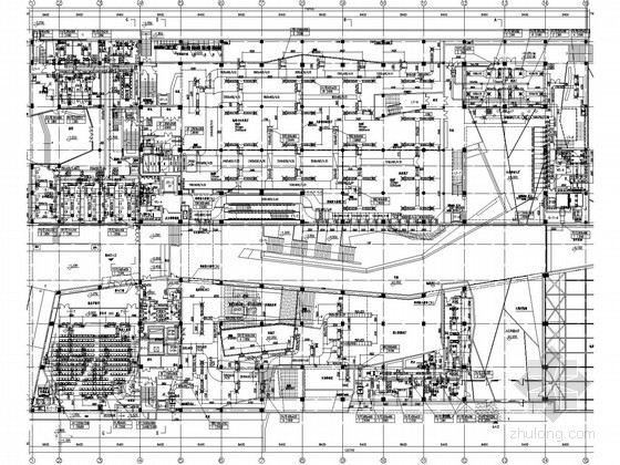 [安徽]知名博物馆空调通风全套施工图纸(喷口送风 送风柱送风)