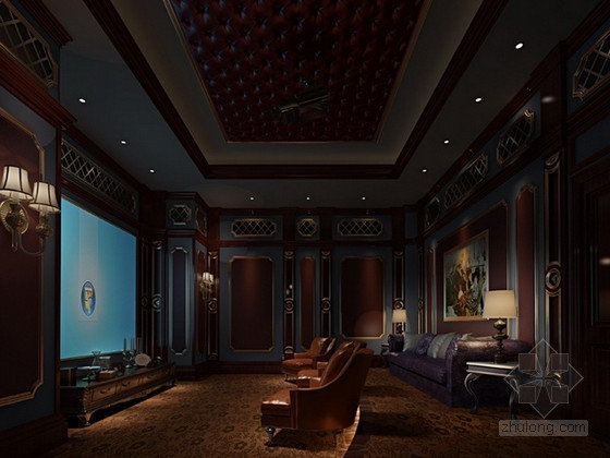 家庭影院3d模型下载