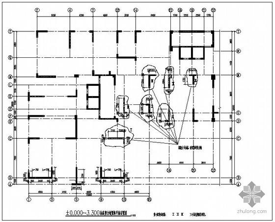 某混凝土置换结构设计图