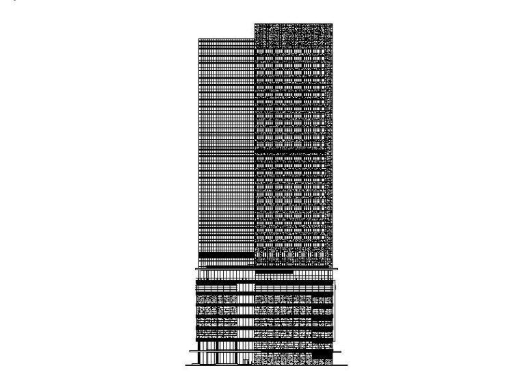 [南京]38层超高塔式酒店商业综合体建建筑图