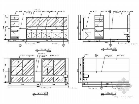 [杭州]社区综合性医疗卫生服务中心室内装修设计施工图(含效果)生化室立面图