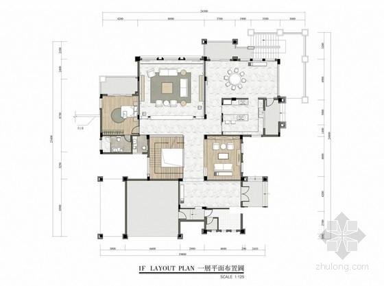 清新现代风格三层别墅室内概念设计方案