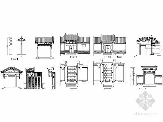 古建门和门檐CAD图集