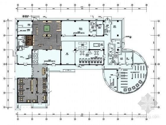 [北京]国家级企业技术中心现代办公楼室内设计方案