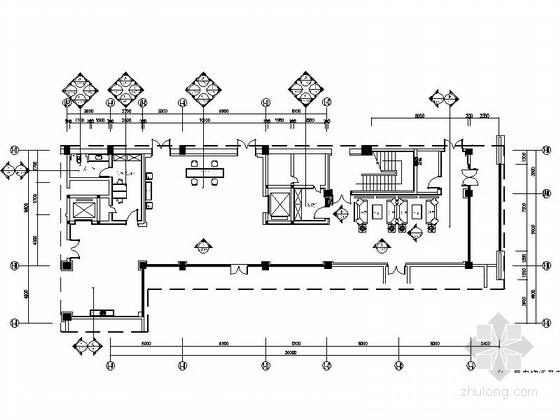 [广东]五星级高档酒店现代电梯厅及前厅CAD装修施工图(含效果)