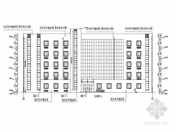 五层框架结构技师学院综合楼结构施工图(含建筑图)