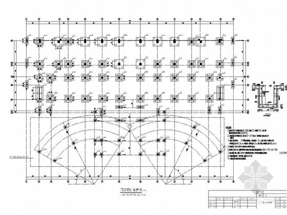 [长沙]12层框架与钢混合结构服务中心结构施工图
