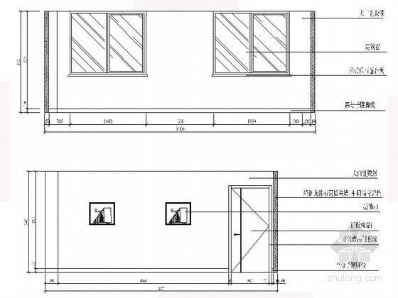 [沈阳]现代自然惬意楼盘物业办公室设计装修图(含效果)小会议室立面图