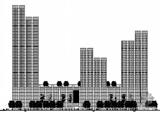 [宁波]嘉和某三十三层中心商住楼建筑施工图(带word说明,模型照片及效果图)(德国GMP)