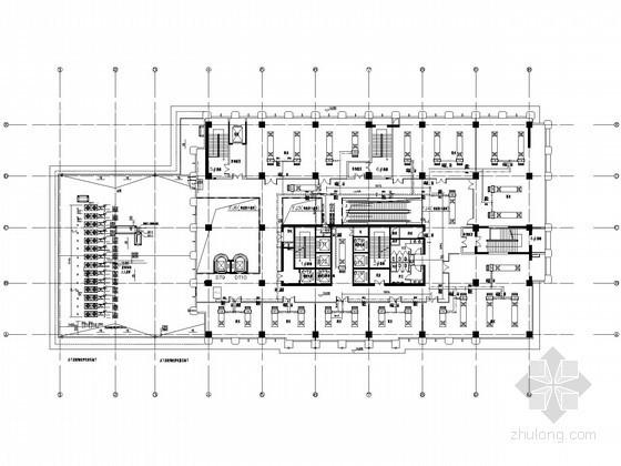 小型商业楼暖通平面图