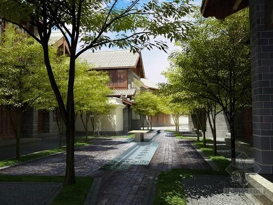 VR渲染材质素材资料下载-酒店建筑3D模型下载