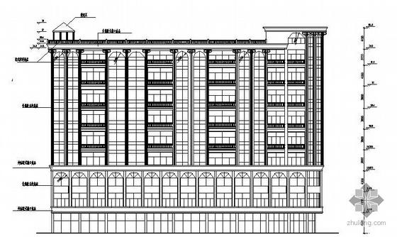 红十字医院大楼建筑结构图纸(含水电)