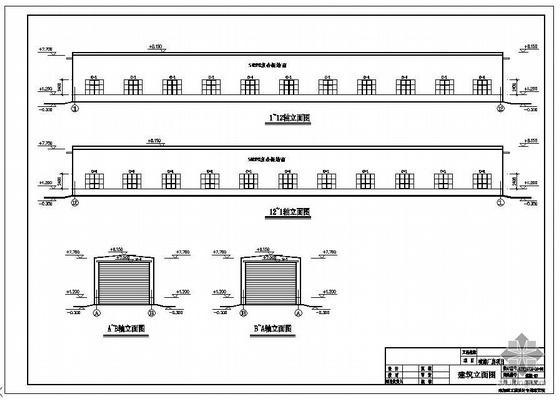 内蒙古鄂尔多斯某公司喷漆车间建筑结构图