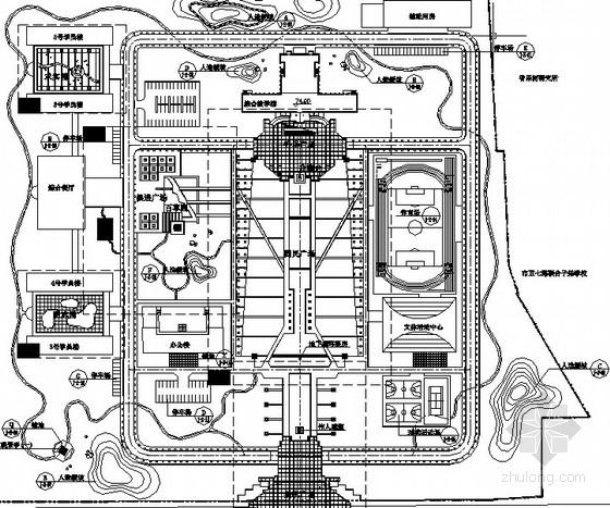 [河北]党政院校园林景观工程施工图设计