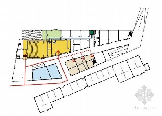 [深圳]两层清水混凝土拍卖交易中心改建设计方案文本-两层清水混凝土拍卖交易中心改建分析图