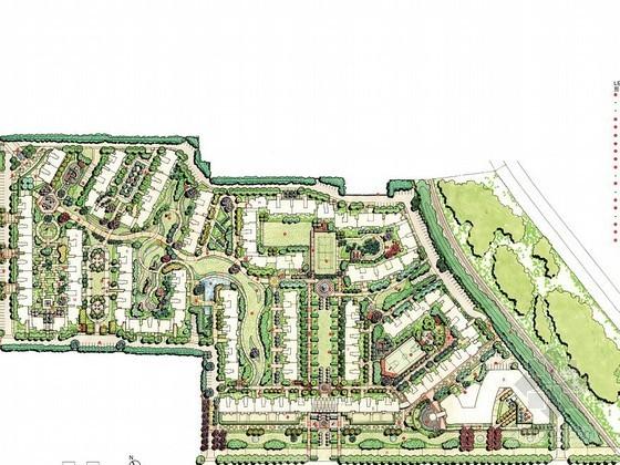 英式风格居住区景观总体规划设计方案