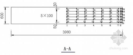 桥梁承台测温点布置示意图