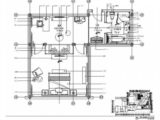某会所现代中式套房室内装修施工图(含效果)