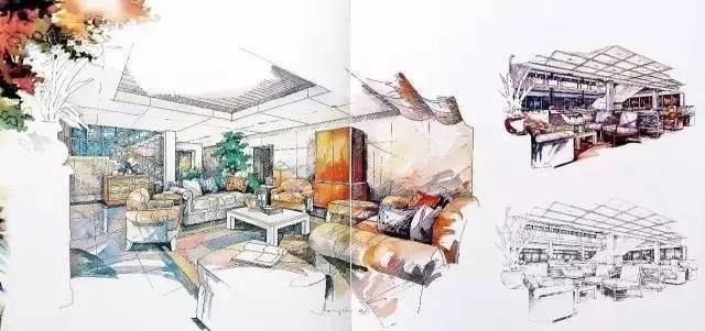 室内设计大师是如何用手绘表现设计的