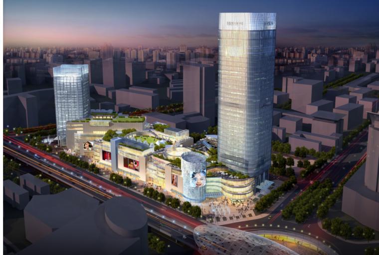 [上海]超高层商业办公综合体建筑设计方案文本(含酒店、办公)