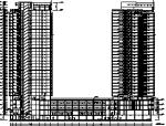 某超高层商住楼平立剖图
