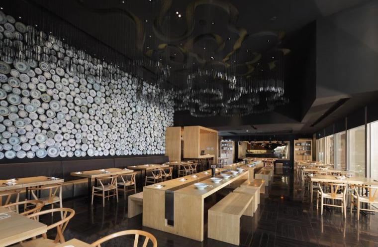 (原创)面馆餐厅设计案例效果图