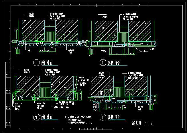 吊顶变形缝CAD施工图