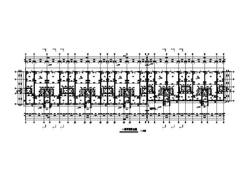 六层砖混结构新中式风格住宅建筑平面图
