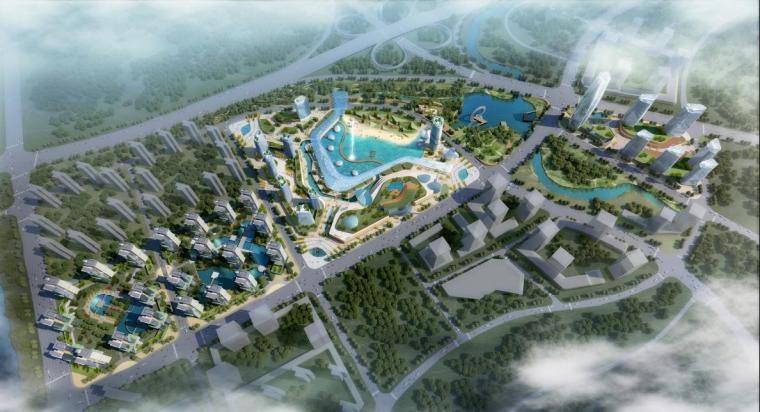[广西]现代风格度假休闲型城市综合体建筑设计方案文本