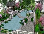 座凳•座椅,景墙•围墙,水景庭院设计su模型