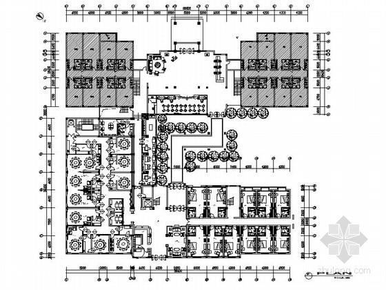 [江苏]文化景区休闲酒店餐饮客房室内装修施工图(含高清效果)