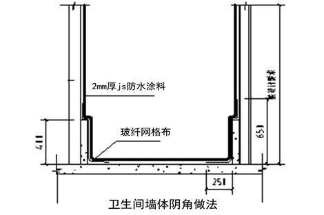 卫生间防水施工,四大细部节点施工图文解说~