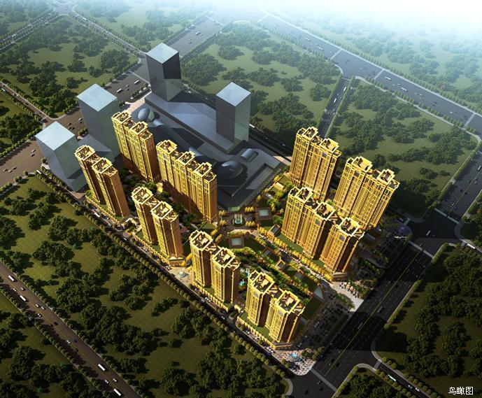 [河南]现代古典主义风格皇家园林式布局住宅小区建筑设计方案文本
