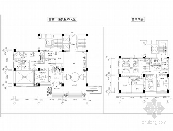 [天津]知名设计院设计现代感豪华集团办公室空间施工图(含效果图)