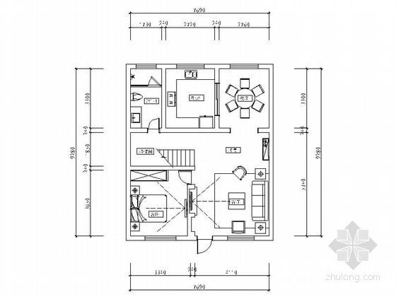 [山西]精品名师设计港式风格复式样板间CAD装修施工图(含效果)