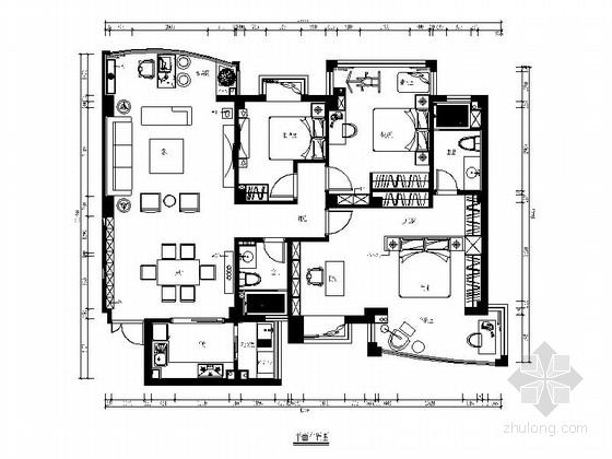[福州]现代风格130平三居室装修图(含效果)