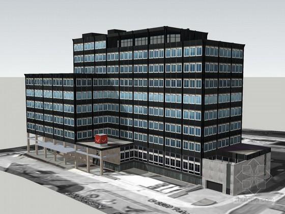 密斯凡德罗建筑sketchup模型