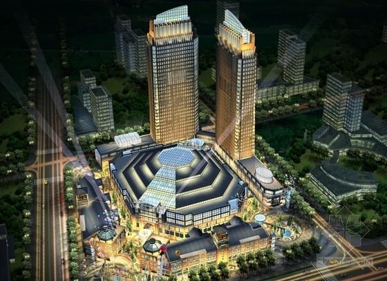 [陕西]明朗简洁风格商业广场及步行街建筑设计方案文本
