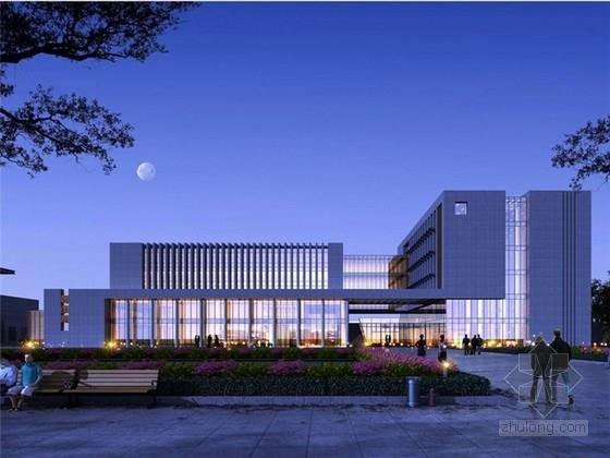 [山东]现代风格大学办公楼投标设计方案文本(含CAD)