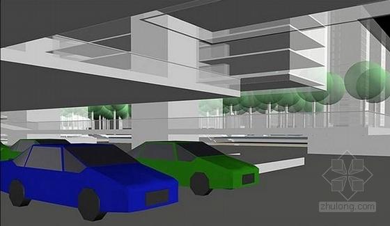 [深圳]现代化科技住宅小区组团景观规划设计方案-景观效果图